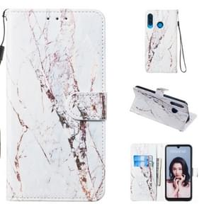 Leather Protective Case For Huawei P30 Lite(White Marble)