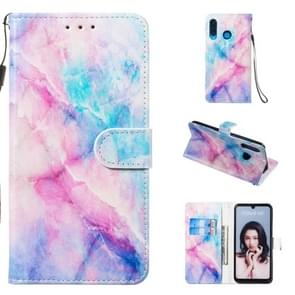 Leather Protective Case For Huawei P30 Lite(Blue Pink Marble)