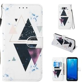 Leather Protective Case For Galaxy S8 Plus(Trigonal Marble)