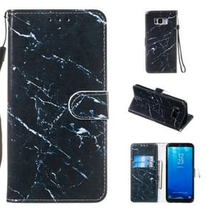 Leather Protective Case For Galaxy S8 Plus(Black Marble)