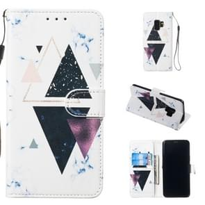 Leather Protective Case For Galaxy S9(Trigonal Marble)