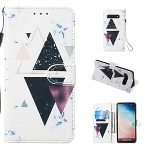 Leather Protective Case For Galaxy S10(Trigonal Marble)