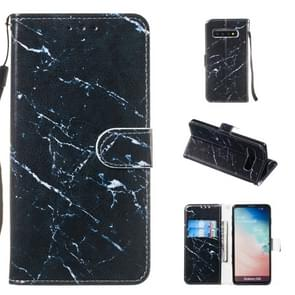 Leather Protective Case For Galaxy S10(Black Marble)