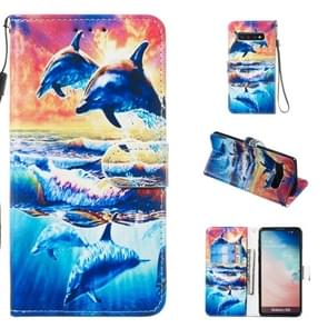 Leather Protective Case For Galaxy S10(Dolphin)