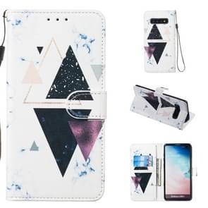 Leather Protective Case For Galaxy S10 Plus(Trigonal Marble)