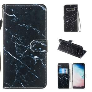 Leather Protective Case For Galaxy S10 Plus(Black Marble)
