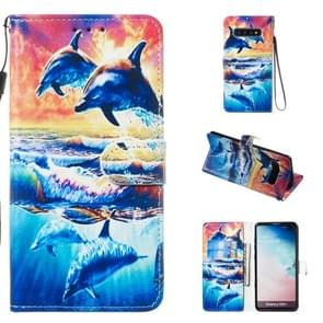 Leather Protective Case For Galaxy S10 Plus(Dolphin)