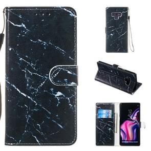 Leather Protective Case For Galaxy Note9(Black Marble)