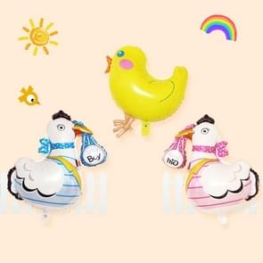 3 PCS Cartoon Chicken Pattern Easter Holiday Party Animal Ornament Balloons