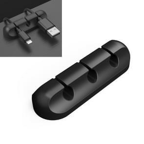 QS-357 3 Holes Desktop Charging Data Cable Organizer Winder
