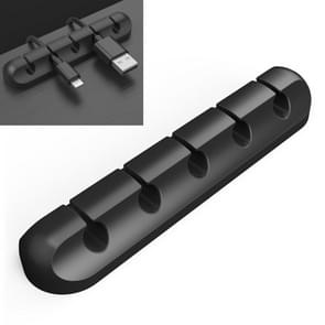 QS-357 5 Holes Desktop Charging Data Cable Organizer Winder