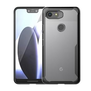 Transparent PC + TPU Full Coverage Shockproof Protective Case for Google Pixel 3 XL (Black)