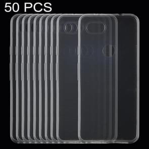 50 PCS 0.75mm Ultrathin Transparent TPU Soft Protective Case for Google Pixel 3 XL Lite