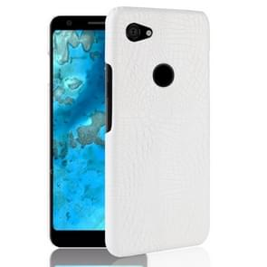 Shockproof Crocodile Texture PC + PU Case for Google Pixel 3 Lite XL (White)