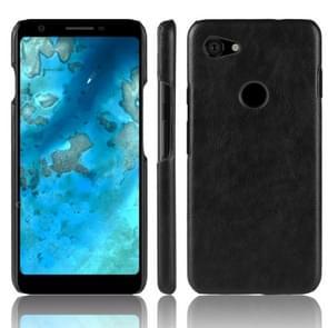 Shockproof Litchi Texture PC + PU Case for Google Pixel 3 Lite XL (Black)