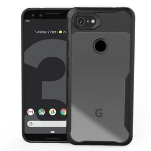 Transparent PC + TPU Full Coverage Shockproof Protective Case for Google Pixel 3a (Black)