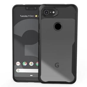 Transparent PC + TPU Full Coverage Shockproof Protective Case for Google Pixel 3a XL (Black)