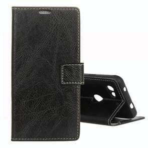 Retro Crazy Horse Texture Horizontal Flip Leather Case for Google Pixel 3 Lite XL, with Holder & Card Slots & Photo Frame (Black)