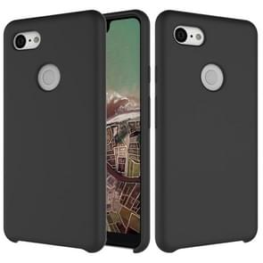 Solid Color Liquid Silicone Dropproof Protective Case for Google Pixel 3 XL (Black)