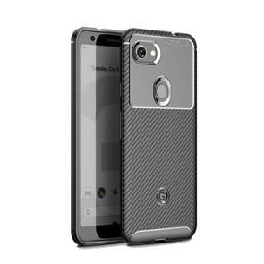 Carbon Fiber Texture Shockproof TPU Case for Google Pixel 3a(Black)