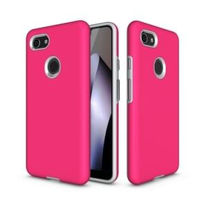 Anti-slip Armor textuur TPU + PC Case voor Google pixel 3 XL (Rose rood)