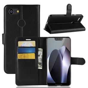 Litchi Texture Horizontal Flip Leather Case for Google Pixel 3 XL, with Wallet & Holder & Card Slots (Black)