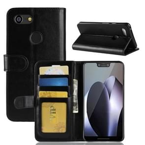 Crazy Horse Texture Horizontal Flip Leather Case for Google Pixel 3 XL, with Wallet & Holder & Card Slots (Black)