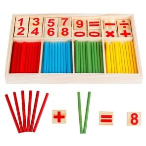 Intelligence Kids Toys Wooden Digit Mathematical Sticks