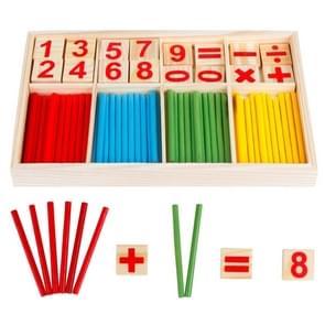 Intelligentie Kids speelgoed houten cijfers wiskundige stokken