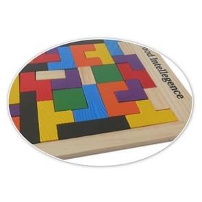 Baby Puzzle Toy Wooden Color Mosaic Tetris, Size: 27*18cm