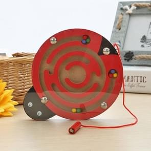 Children Puzzle Toy Wooden Magnetic Small Size Ladybug Pattern Animal Maze