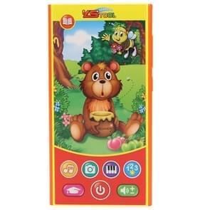 MoFun 2601B Bear eten honing multifunctionele droge batterij aangedreven kinderen vocale muziek mobiele telefoon