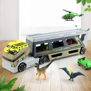 MoFun 9913 Dinosaur Model Tractor Big Container Truck Dinosaur Transport Car Set Toys