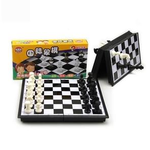 Portable International Chess Game Set in Foldable Plastic Box
