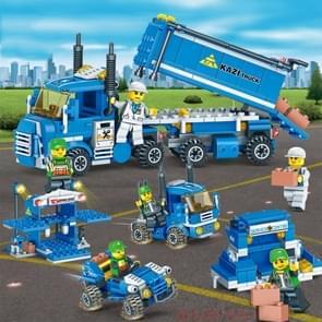 4 in 1 KAZI City Transport Kinderen DIY Verlichting Geassembleerde Bouwstenen Educatieve Intelligentie Speelgoed