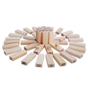 48 stuks stapel houten bouwstenen