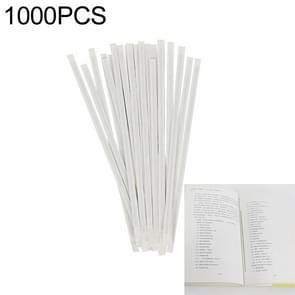 1000 PCS 16cm Cobalt-based EM Anti-Theft Double Sided Magnetic Strip for Book Security