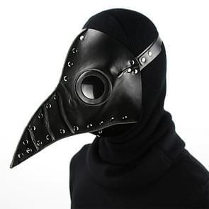 HG074 Halloween Verfrommeld Snavel Vorm Masker (Zwart)