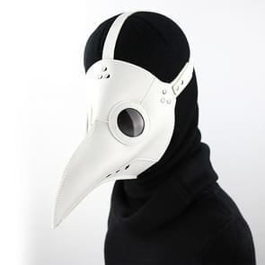 HG074 Halloween Verfrommeld Snavel Vorm Masker (Wit)