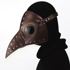HG074 Halloween Verfrommeld Snavel Vorm Masker (Bruin)