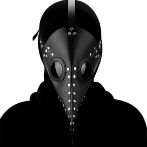 HG083 Halloween Solid Color Snavel Vorm Masker (Zwart)
