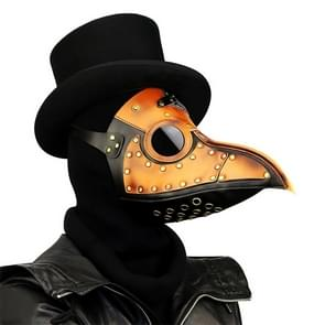 HG090 Halloween Tweekleurige Stiksels Snavel Vorm Masker