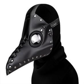 HG65005 Halloween Dress Up Rekwisieten Klinknagels Snavel Vorm Masker (Zwart)