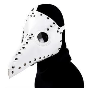 HG65005 Halloween Dress Up Rekwisieten Klinknagels Snavel Vorm Masker (Wit)