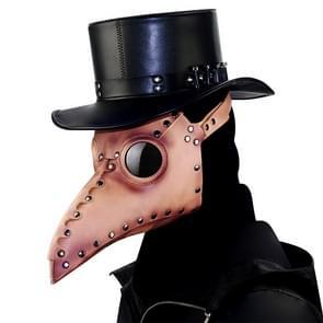 HG65005 Halloween Dress Up Rekwisieten Klinknagels Snavel Vorm Masker (Bruin)