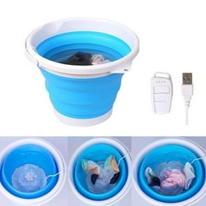 3 in 1 Travel Portable Mini Folding Bucket Super Vibration Wave Turbo Wasmachine met Control Switch