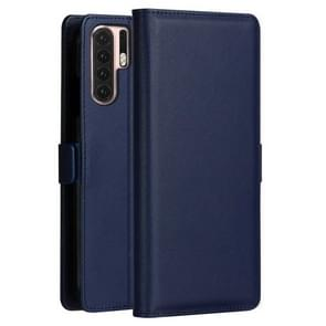 DZGOGO MILO Series PC + PU Horizontal Flip Leather Case for Huawei P30 Pro, with Holder & Card Slot & Wallet (Blue)
