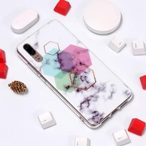 Marble Pattern TPU Soft Protective Case For Huawei P20(Hexagon)