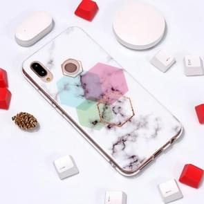 Marble Pattern TPU Soft Protective Case For Huawei P20 Lite / Nova 3e(Hexagon)