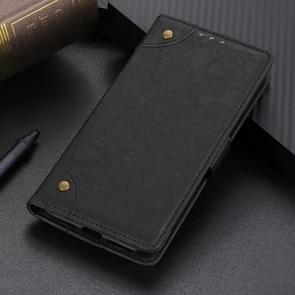 Copper Buckle Retro Crazy Horse Texture Horizontal Flip Leather Case for Huawei Mate 20 Pro, with Holder & Card Slots & Wallet (Black)